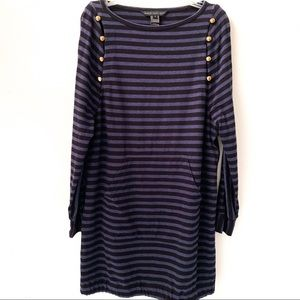 Marc by Marc Jacobs Navy Striped Dress Medium